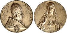 Medaglia PAPA Pio XI Pontifex Maximus con Gesù nel retro #KP452