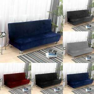 Armless Sofa Bed Cover Jacquard Spandex Slipcover Folding Couch Protector