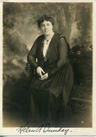 Helen Thompson Sunday Wife Billy Sunday Evangelist Clergy Signed Autograph Photo