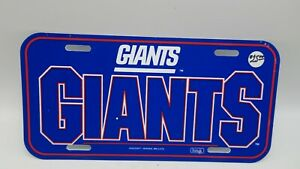 Vintage Wincraft Plastic Front License Plate Car Tag NY New York Giants NFL