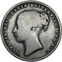 1846 SHILLING - VICTORIA BRITISH SILVER COIN