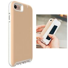 Tech21 iPhone SE 2020 Evo Go Leather Wallet Card Money Slot Case Cover Tan/Brown