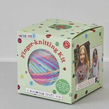 Finger Knitting Kit - Button Bag Craft