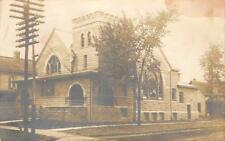 RPPC Macomb, Illinois Universalist Church 1907 Vintage Real Photo Postcard