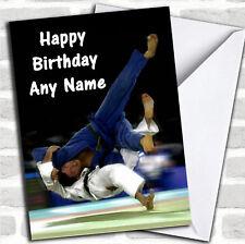 Martial Arts Judo Personalised Birthday Card