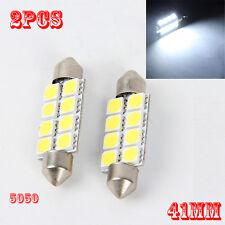2PCS 5050 41mm 8SMD Car Interior Dome Festoon LED Light Bulbs Lamp White DC12V