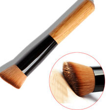 Angled Flat Top Fashion Brush WOODEN Face Base Liquid Foundation Cosmetic Makeup