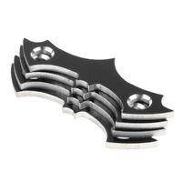 4pcs Skateboard Deck Protective Gasket Longboard Mounting Anti-sinking Black