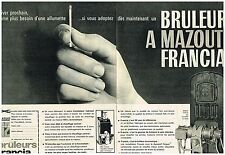 L- Publicité Advertising 1962 (2 pages) Le Bruleur à mazout Francia