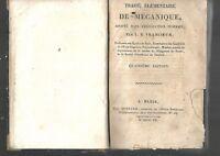 Traité élémentaire de mécanique Francoeur chez Bernard 1807 REF E30