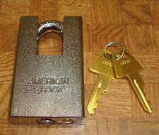 "Brand New AMAA5360 American Lock CHROME 2"" SHROUDED PADLOCK Keyed Alike KA43737"