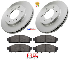 FOR MITSUBISHI L200 2.5 Di-D (2005-2014) FRONT BRAKE DISCS & BRAKE PADS SET NEW
