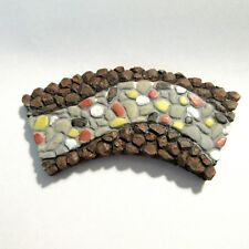 Fairy Garden Mini Stone Pebble Curved Pathway Accessory Christmas Village