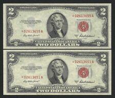"""America -USA x 1 FDS / UNC 2 Dollari Serie Sost.Decr.1953 """"A"""" Bollino ROSSO !!!"""