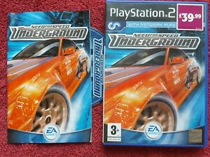 NEED FOR SPEED UNDERGROUND ORIGINAL BLACK LABEL SONY PLAYSTATION 2 PS2 PAL