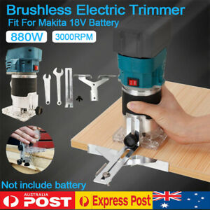 Cordless Brushless Trimmer Woodworking Compact Router For Makita 18V Battery