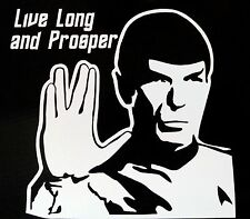 Star Trek SPOCK Live Long and Prosper Vinyl Decal - for car, laptop, whatever!