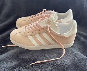 Women's ADIDAS 'Gazelle' Sz 5 Shoes Pink Leather