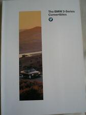 BMW 3 Series convertibili opuscolo DEC 1995 USA mercato