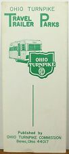 1970 Ohio Turnpike RV Travel Trailer Parks Guide brochure map b