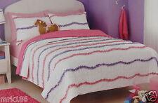 Circo Ruffles Full/Queen Quilt + 1 Sham Bed Set ~ NEW Pink Purple
