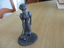 Woman playing croquet Pewter Figurine made by Franklin Mint