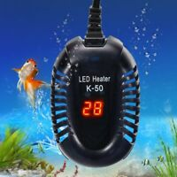 Aquarium Heater Fish Tank Turtle Temperature Mini Submersible 25/50/75/100W LED