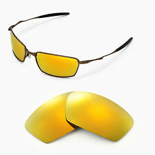 New Walleva Polarized 24K Gold Lenses For Oakley Square Whisker