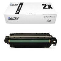 2x Eurotone ECO Toner SCHWARZ für HP Color LaserJet Enterprise CP-4025-N