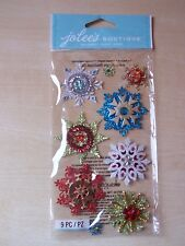 NEW-JOLEE'S/JOLEES BOUTIQUE-LARGE - EMBELLISHED SNOWFLAKES