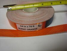 34 X75 Roll Burnt Orange Reflective Conspicuity Tape Lined