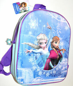 PRIMARK FROZEN ELSA ANNA DISNEY BACKPACK RUCKSACK SCHOOL 3D LOGO TRAVEL BAG NEW