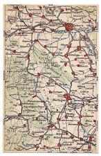 AK mit Landkarte, Einbeck und südwestliches Umland, um 1923