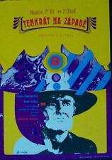 ONCE UPON A TIME IN THE WEST Czech A3 movie poster LEONE CARDINALE FONDA NM