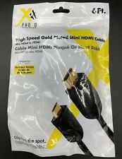 High Speed Gold Plated Mini HDMI Cable 6ft