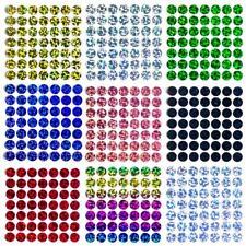 49 Bügelpailletten Hologramm, 9 mm rund, Hotfix Pailletten zum Aufbügeln