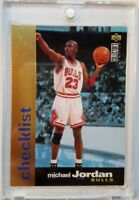 Rare: 1995-96 COLLECTORS CHOICE GOLD CHECKLIST MICHAEL JORDAN #200, Sharp!