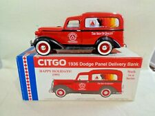1995 LIBERTY CLASSIC 1936 DODGE PANEL CITGO DELIVERY TRUCK 1/25 BANK W / KEY