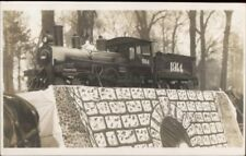 Publ in Columbia MO - RR Train 1914 Parade Float? Real Photo Postcard