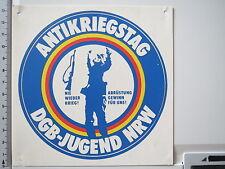 Pegatina Sticker antikriegstag-DGB juventud-NRW (m1210)