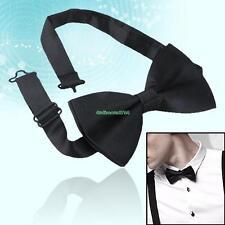 Men's Wedding Party Adjustable Black Bowtie Bow Ties Necktie For Suits Tuxedos