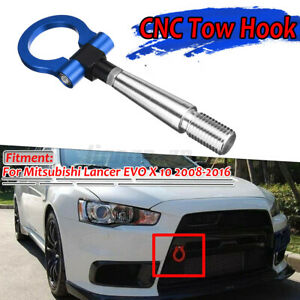 Round Front Tow Hook Ring Hitch Racing For Mitsubishi Lancer EVO X 10 2008-2016