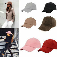 Unisex Men Women Suede Sport Baseball Cap Snapback Visor Adjustable Sun Hats