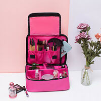 Makeup Bag Professional Cosmetic Case Storage Handle Travel Organizer Cube Kit
