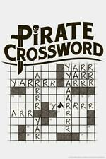 Pirate Crossword Puzzle Arr Yarr Humor - Poster 24x36 inch