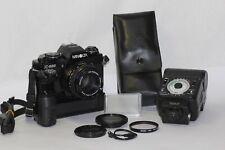 Minolta X-500 SLR Film Camera MD Rokkor 50mm f/1.7 MF Lens Flash AUTO 360px