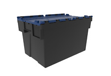 Pk 2 Large Loadhog Attached Blue Lid Containers 600x400x365mm (65L)