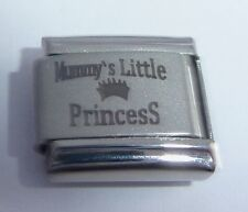 MUMMY'S LITTLE PRINCESS Italian Charm 9mm Classic Size - I Love my Daughter N96