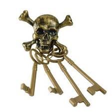 Jailor Keys Skeleton Pirate Cast Iron Brig Keys Antique Reproduction ux1004 lock