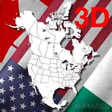 North America Map USA CANADA MX GPS 2018.20 3D FOR GARMIN® DEVICES